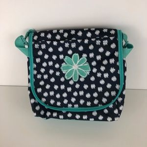 Thirty One Thermal Navy Doodle Dot Lunch Tote Bag